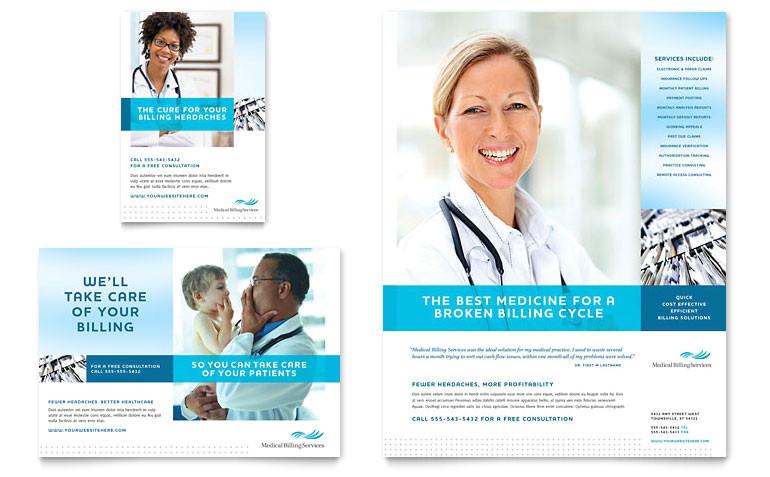 medical billing coding flyer ad templates md0230701d