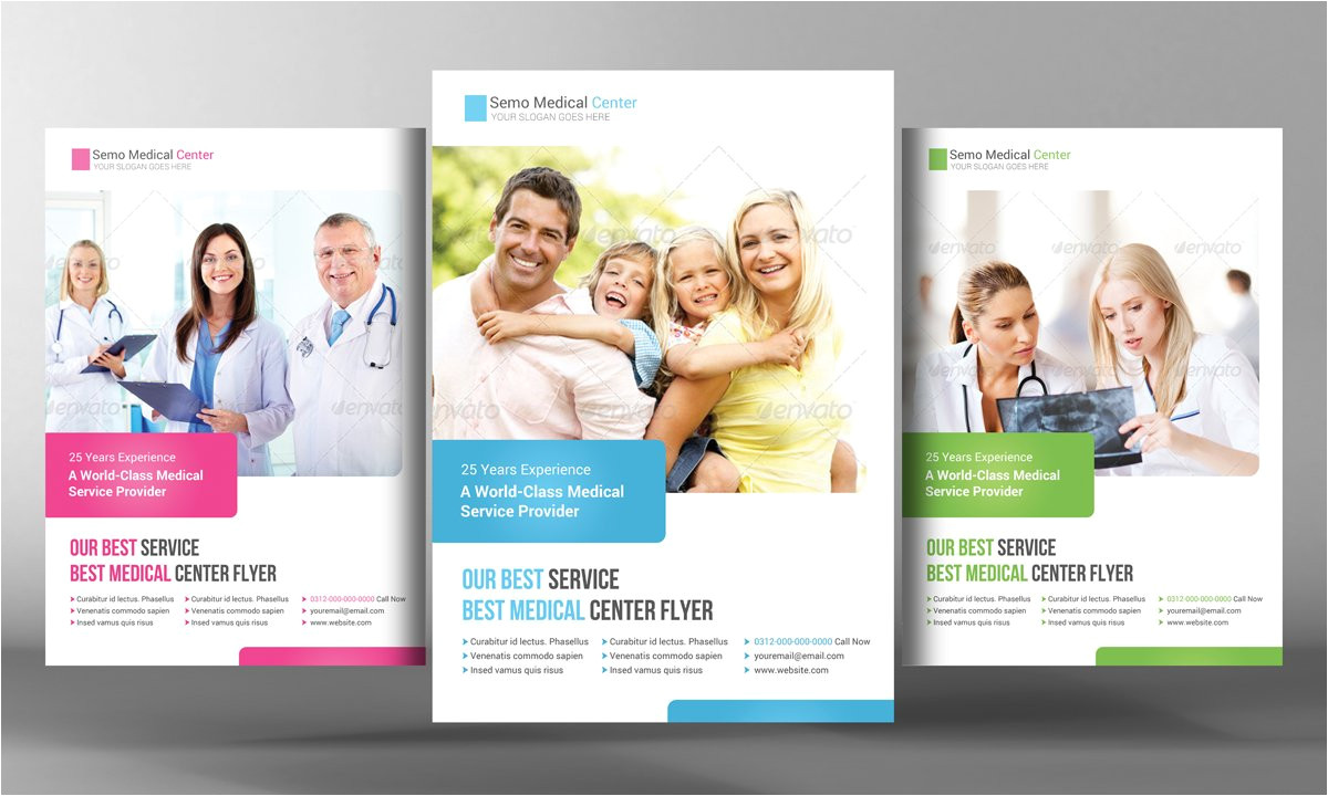 2209181 medical health care flyer template