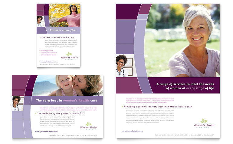 womens health clinic flyer ad templates md0180701d