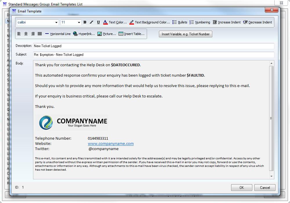 Helpdesk Email Template Help Desk software Email Integration