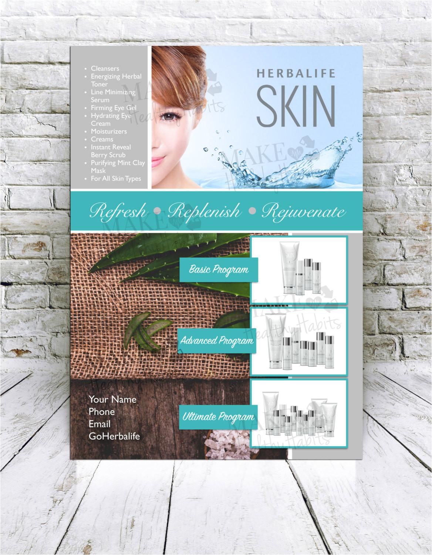 custom print ready herbalife skin flyer