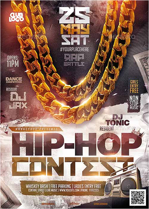 hip hop contest flyer template