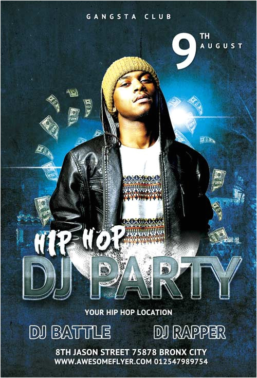 free hip hop battle dj party flyer template