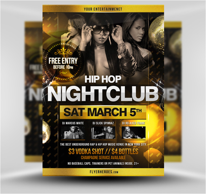 hip hop party flyer template 295356179