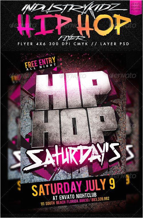 top 10 best hip hop psd flyer templates