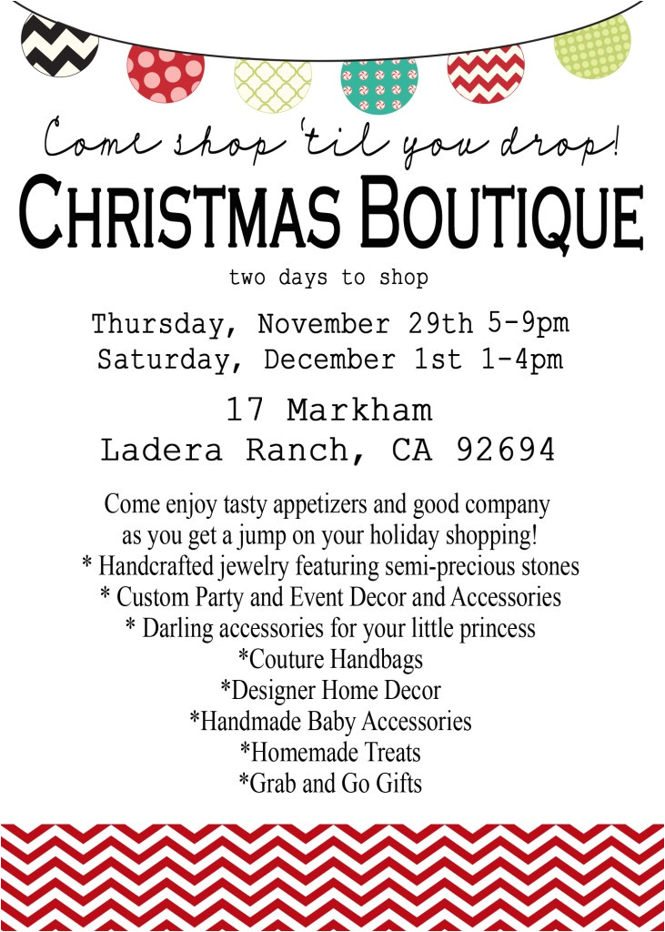 orange county christmas boutique save the date november 29th