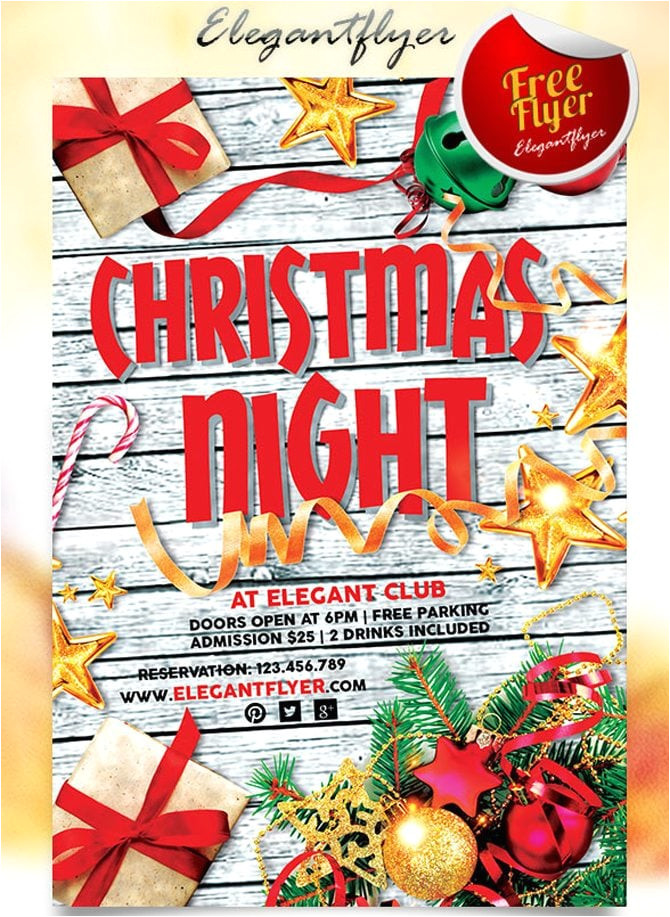 30 free christmas new year psd flyers