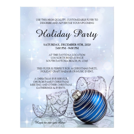 Holiday event Flyer Template Free Christmas Flyer Template for Holiday events Zazzle