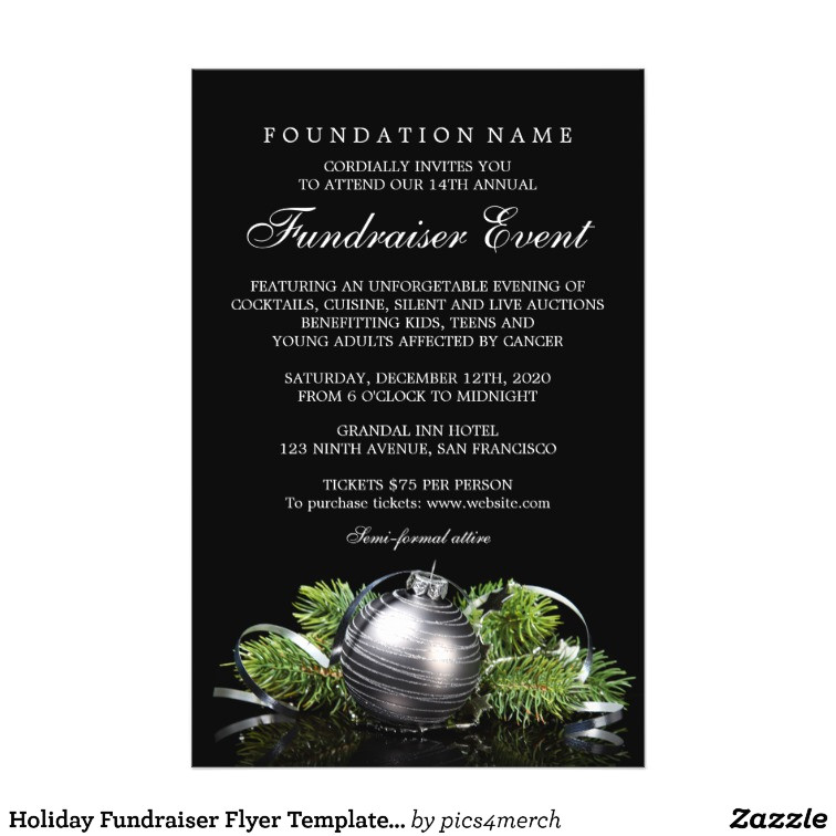 holiday fundraiser flyer templates charity event 244575253721610861