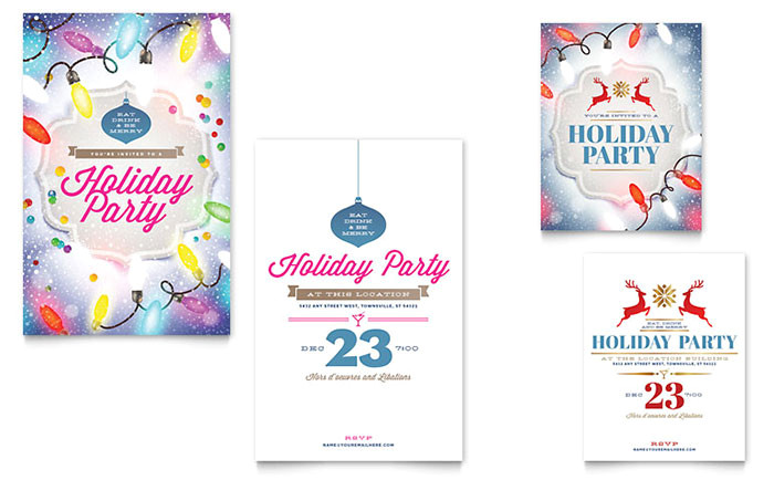 holiday party note card templates xx1532401d