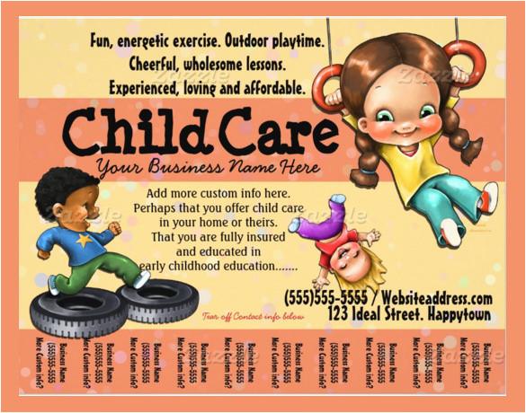 daycare flyer