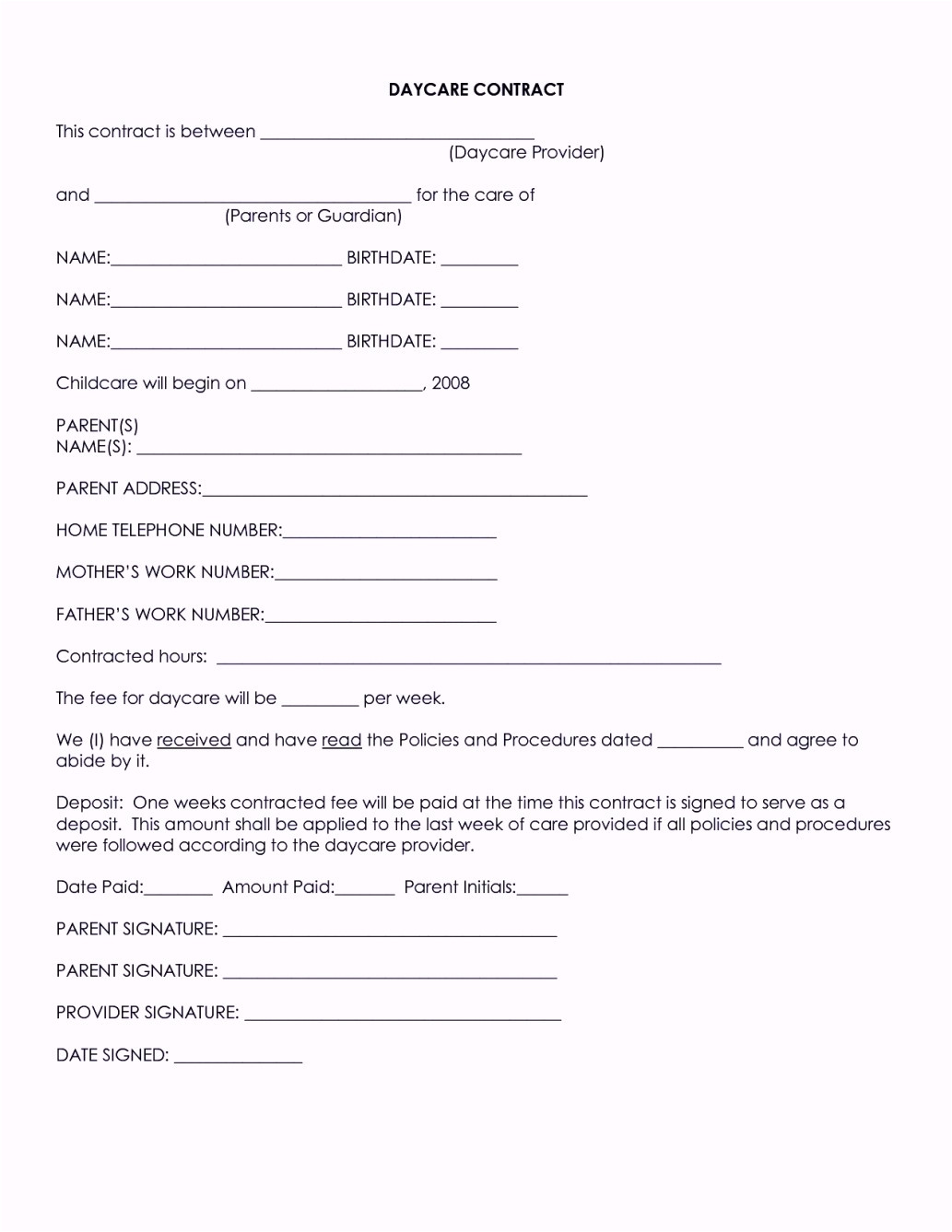 home health care contract template