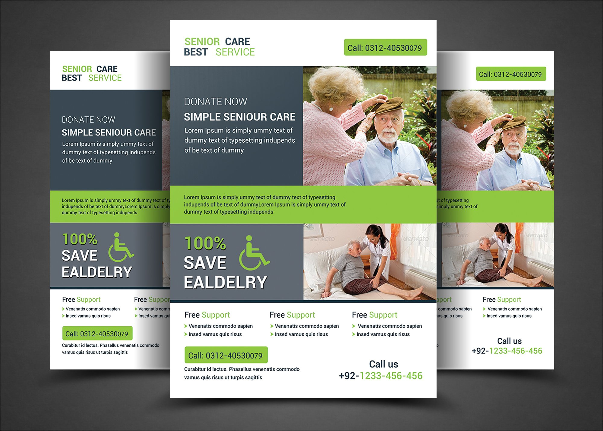 307819 home care flyer templates