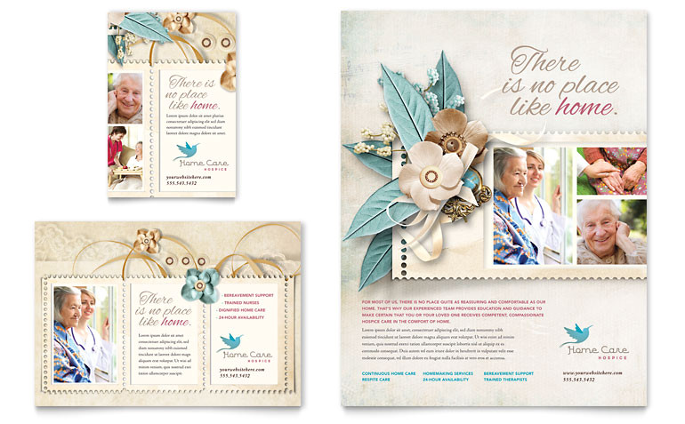 hospice home care flyer ad templates md0320701d