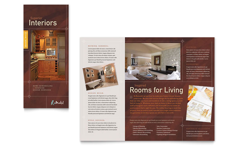 home remodeling tri fold brochure templates co0062301d