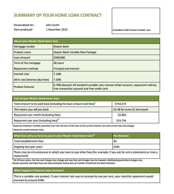 Home Loan Contract Template 27 Loan Contract Templates Word Google Docs Apple
