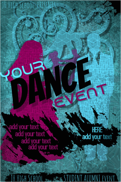 Homecoming Dance Flyer Template Copy Of Disco Dance High School Prom Homecoming formal