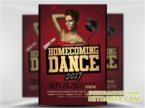 69933 flyer template homecoming dance 2017 2