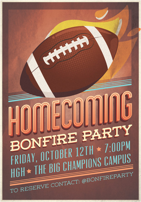 homecoming flyer template 327910849