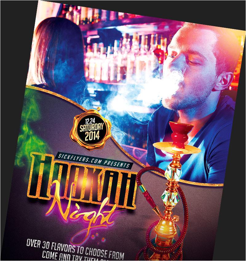 hookah lounge flyers