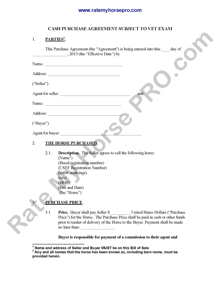 29 images of horse sale contract template download 5635