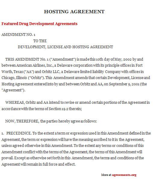 hosting agreement