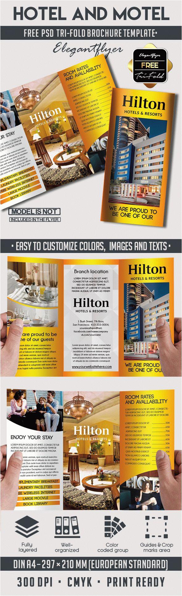 hotelmotel free psd tri fold psd brochure template