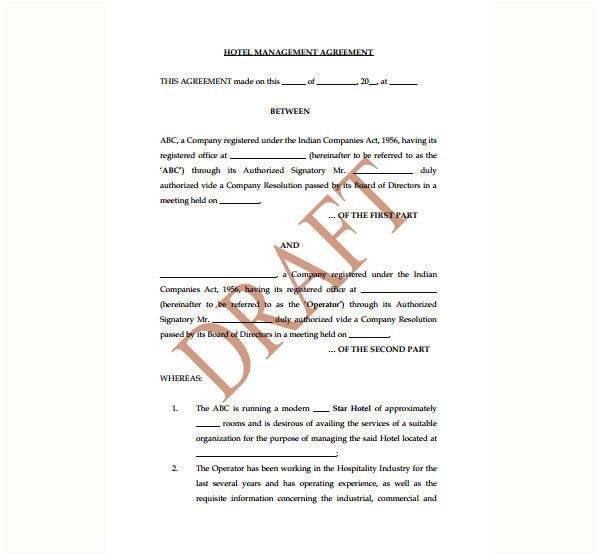 hotel management agreement contract 2