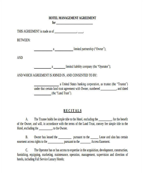 room lease agreement