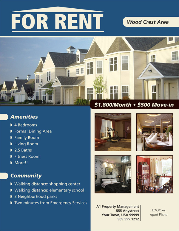 House for Rent Flyer Template Free Flyers for House Renting Flyer Www for Rent Flyer