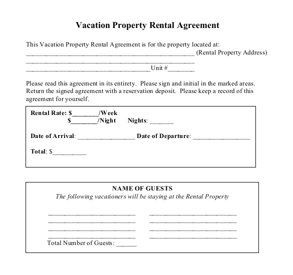 tenancy agreement templates in word