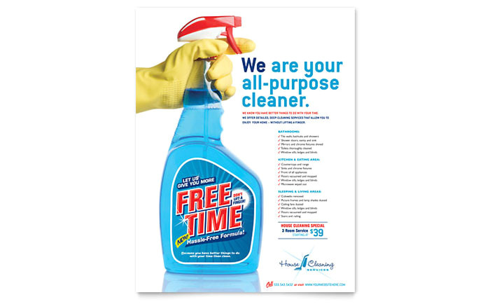 house cleaning housekeeping flyer template design gb0791501