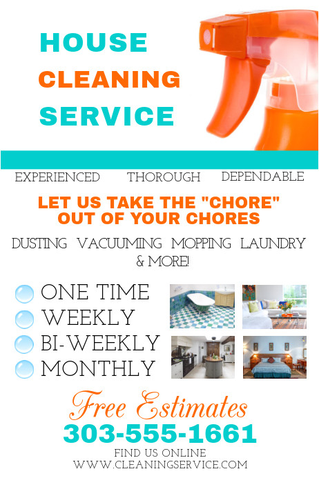 house cleaning service poster template