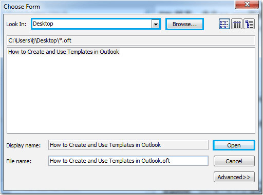 download create outlook template 2003 free