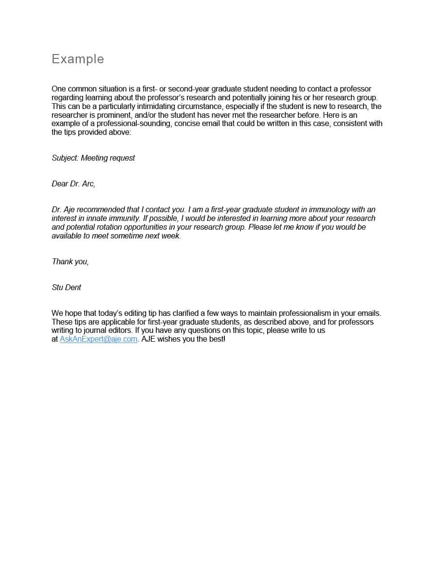 professional email examples