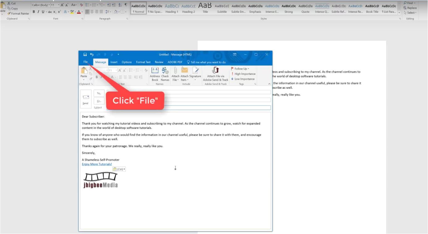 create email template outlook 2066