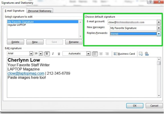 how to create an email signature in microsoft outlook 2013
