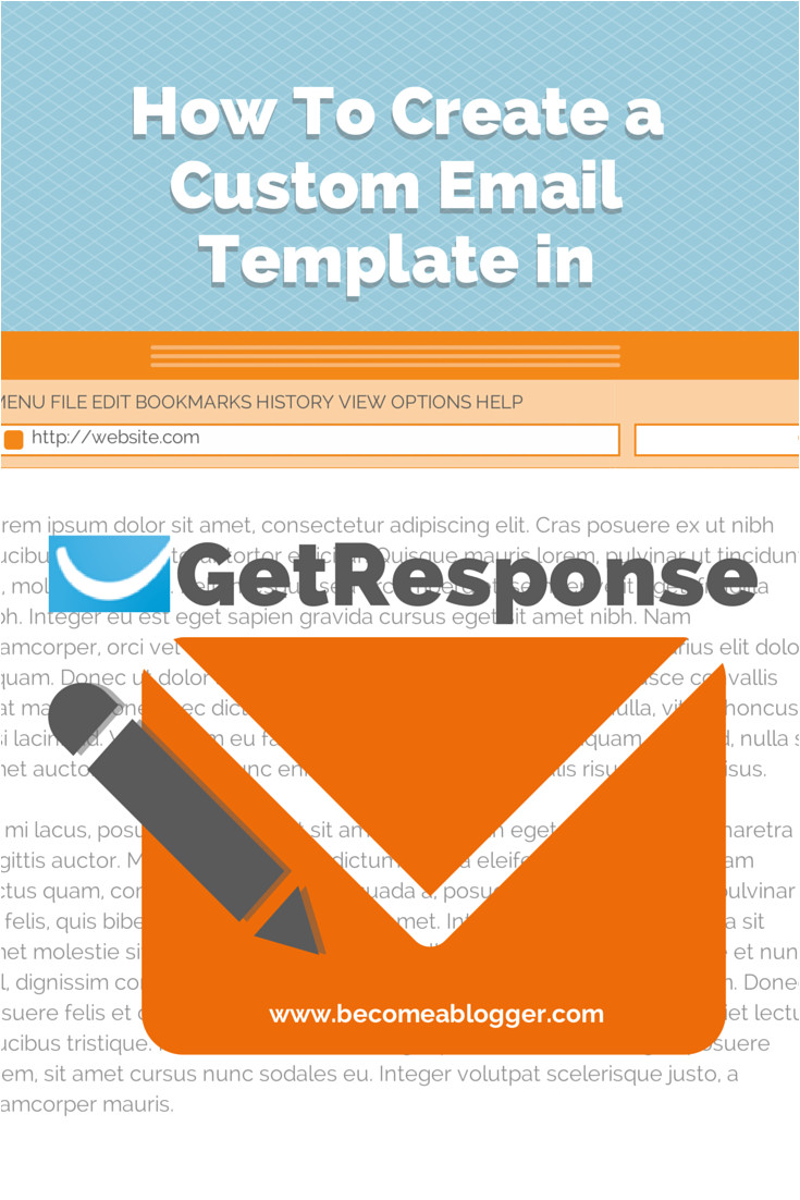 create custom email template in getresponse
