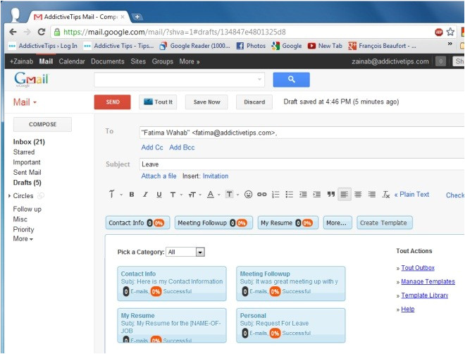 create email templates easily send repetitive emails chrome