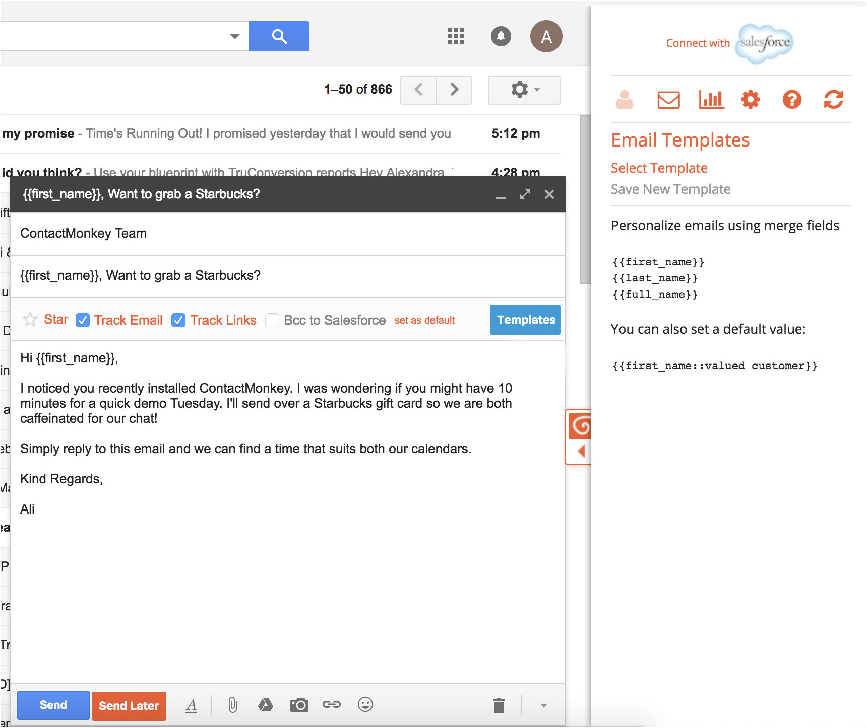 setup custom email templates gmail