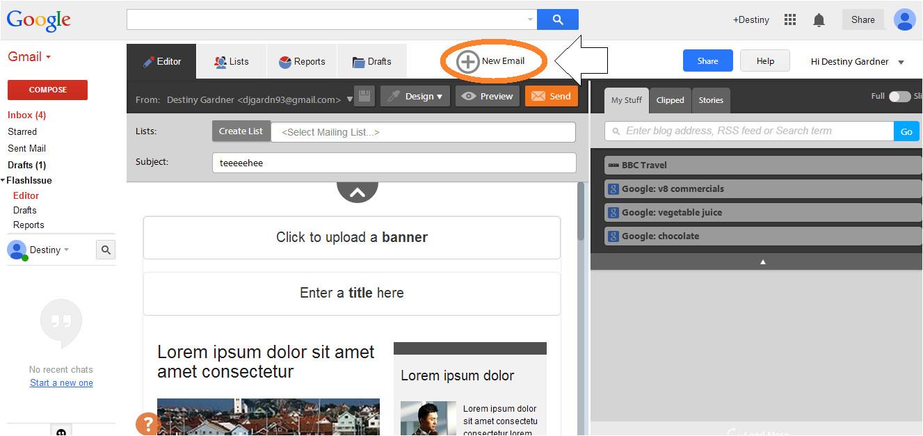 create gmail template