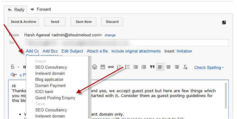 how to create gmail email template