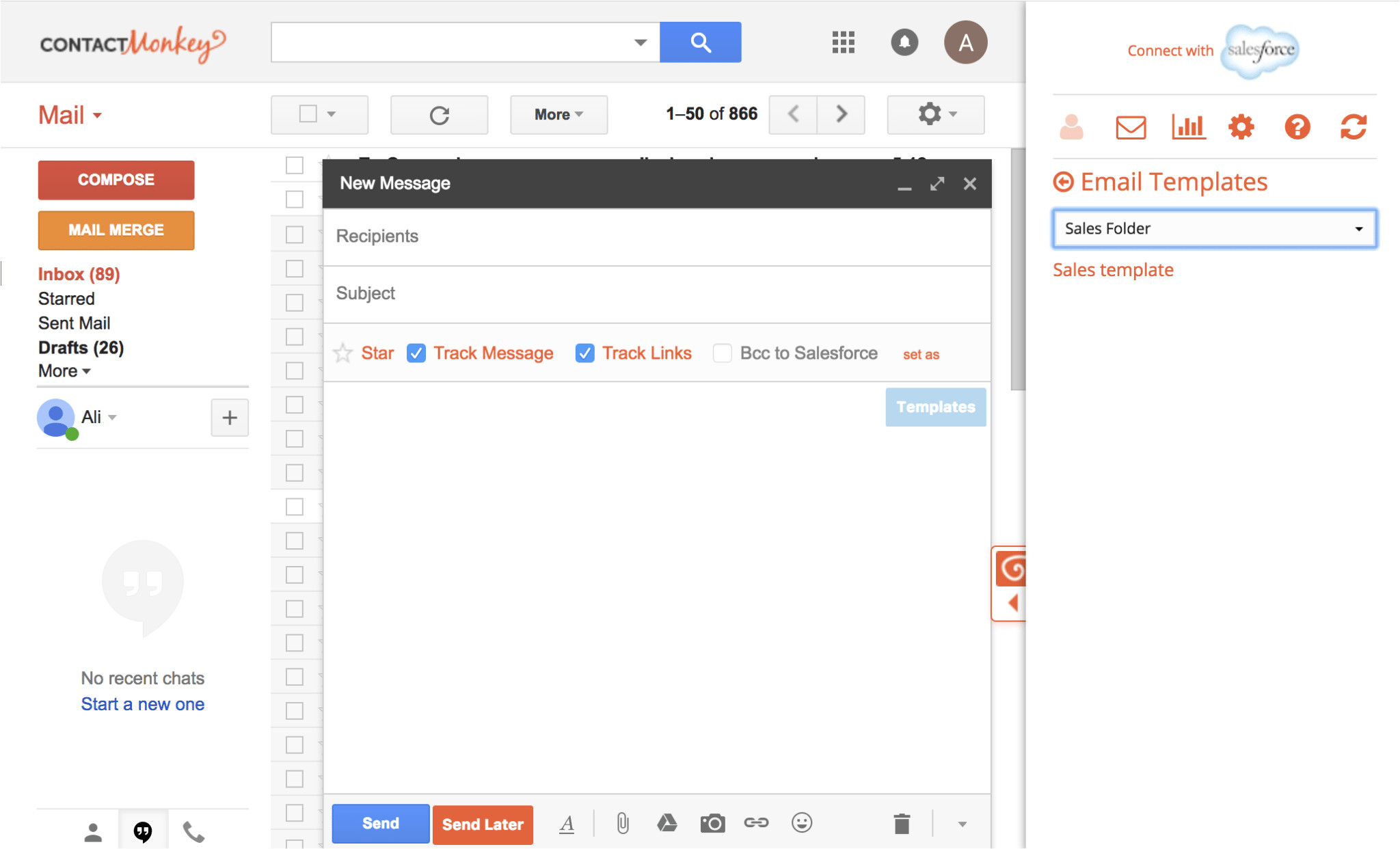 step 3 selecting email templates for gmail