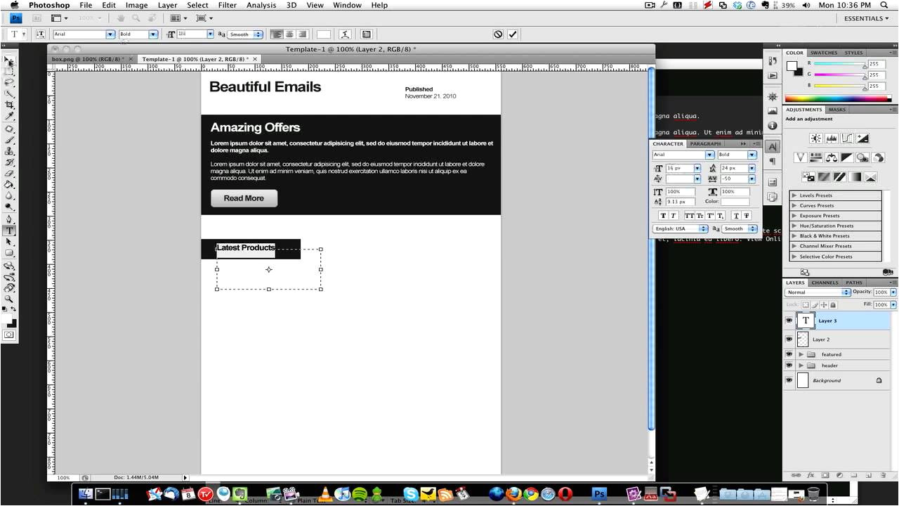 How to Design An Email Template How to Create A HTML Email Template 1 Of 3 Youtube