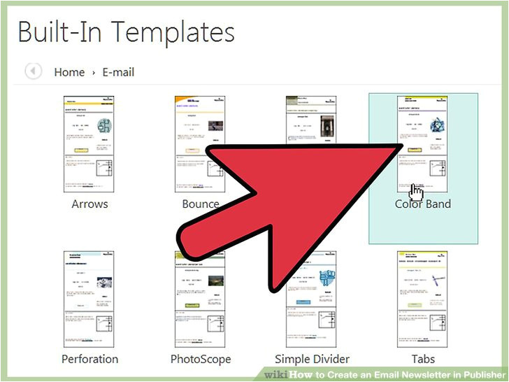 create an email newsletter in publisher