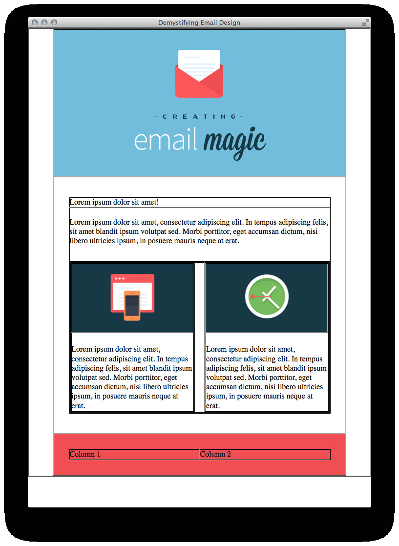build an html email template from scratch webdesign 12770
