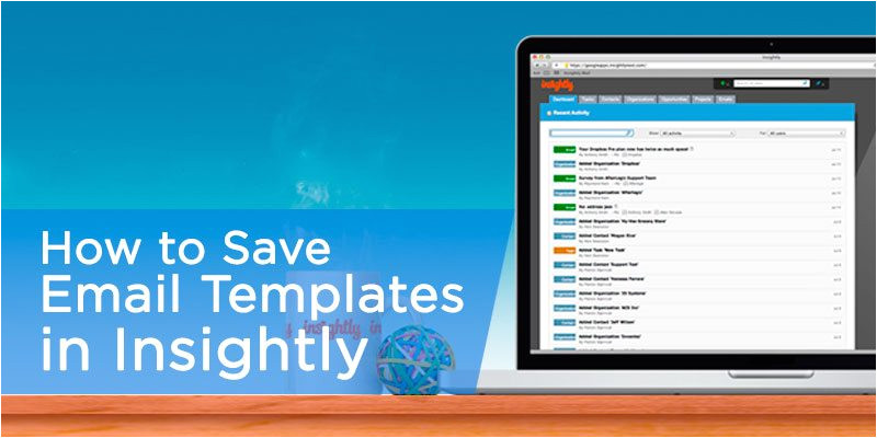 using insightly email templates