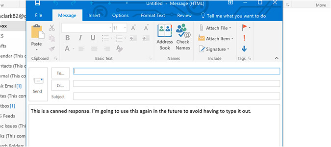 save email templates outlook