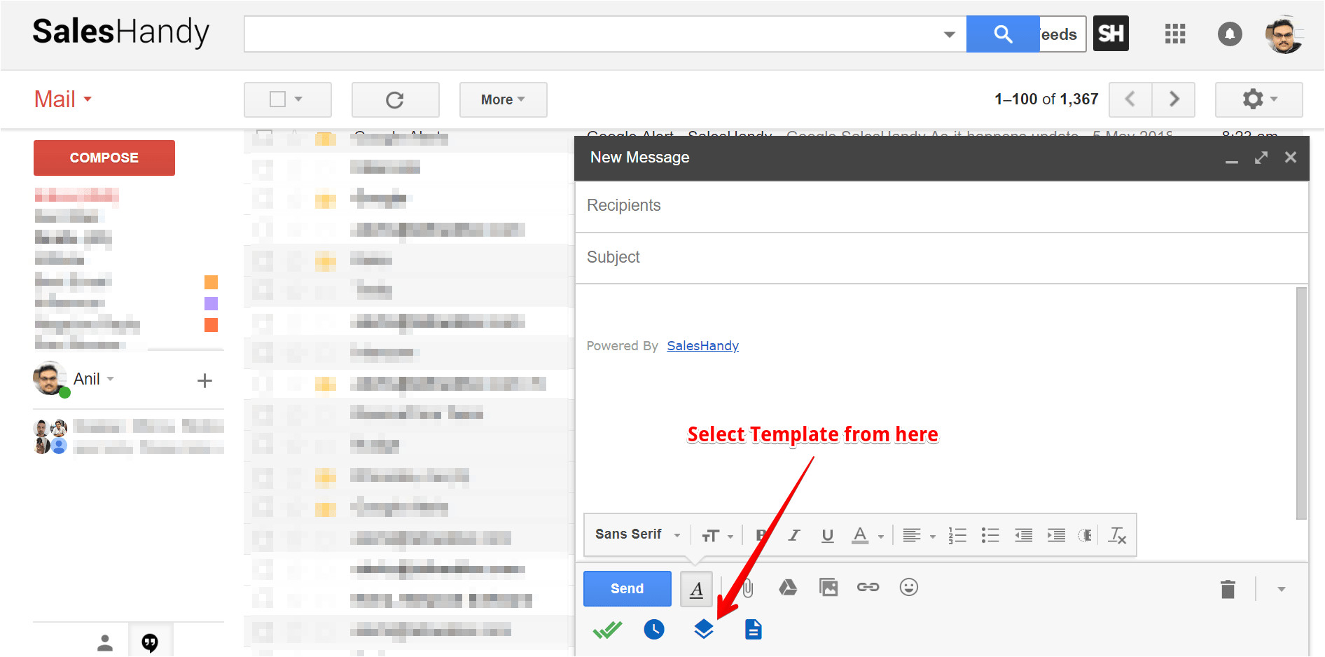 create send html email template in gmail