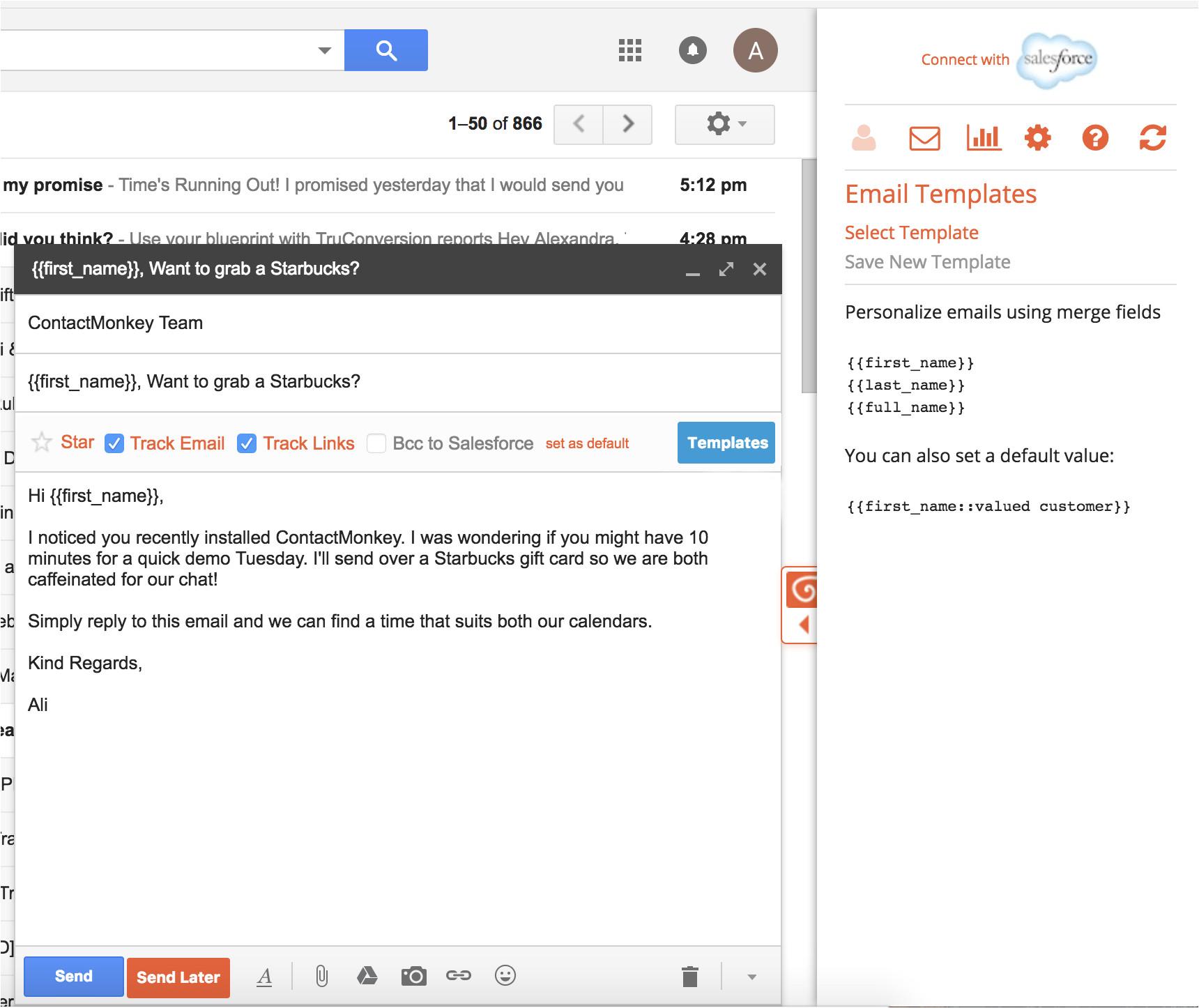 setup custom email templates gmail